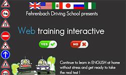 Online driving test