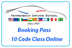 Booking pass for 10 Driving Code Class Online