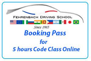 Booking pass 5 hours code class online