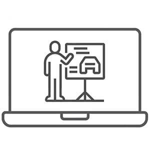 Online driving code test